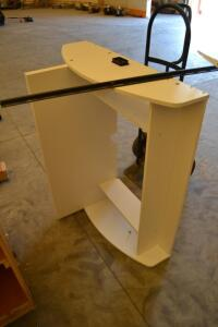 Children's wall hanging desk and workstation