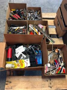 (6) Boxes of Assorted Tools