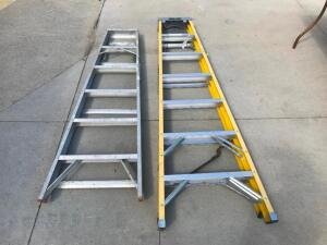 7' Keller Fiberglass Ladder, 6' Metal Ladder