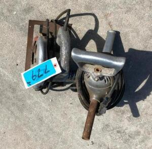 "Heavy Duty Drill, 6 1/2"" Dormeyer Saw with Fine Tooth Blade"
