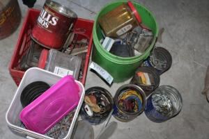 Assorted nails and other fasteners