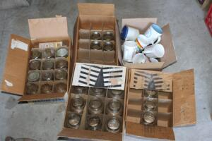 Canning jars and mugs