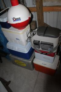 Numerous coolers