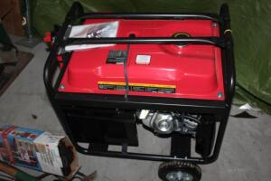 New 7500 watt generator never used