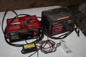 2 battery chargers and tender