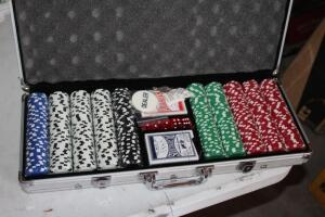New set of poker chips
