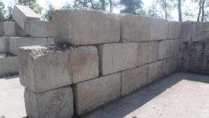 LOT OF (14) CONCRETE BIN BLOCKS,
