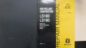 NEW HOLLAND LS180 & LS190 SKID STEER LOADER REPAIR MANUAL