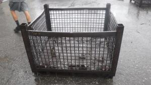 "HEAVY DUTY INDUSTRIAL STEEL WIRE BASKET, MEASURES APPX 48"" LONG X 40"" WIDE X 33"" TALL"