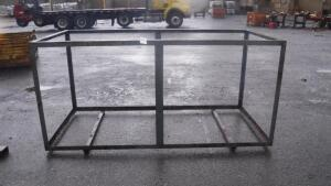 "ANGLE IRON FRAME, MEASURES APPX 97"" LONG X 45 1/2"" WIDE X 45 1/2"" TALL"