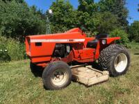 Allis Chalmers 616 with belly mower, motor is free but not running
