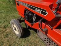 Allis-Chalmers 620 with belly mower and rear rototiller, motor free but not running - 7