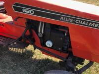 Allis-Chalmers 620 with belly mower and rear rototiller, motor free but not running - 10