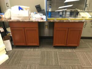 (2) Storage Cabinets with Counter Top