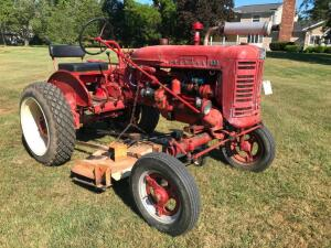 Farmall 100 with Belly Mower