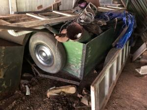 Homemade Single axle trailer and contents - NO TITLE