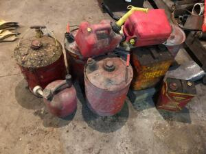 Numerous Gas Cans - various sizes
