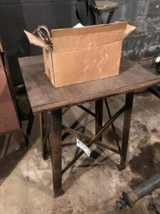 Small Workbench, metal stool and electric motor