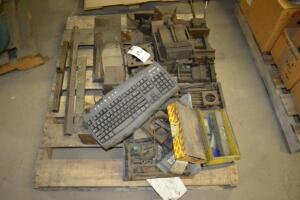 pallet of misc iron and parts