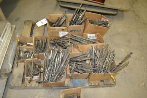 pallet of drills and bits