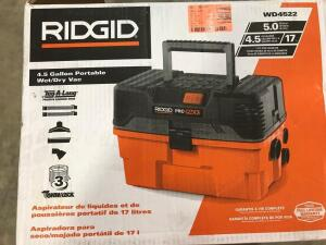 Ridgid - 4.5 Gallon Portable Wet/Dry Vac