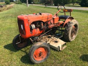 1945 Allis Chalmers B with Belly Mower