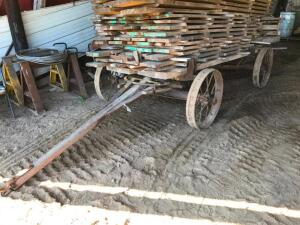 Steel Wheel Wagon - Lumber Sells Separate