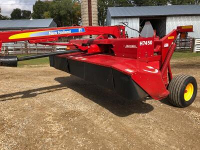 2013 New Holland H7450 Discbine Mower with Mow Max, S/N - YCN094661