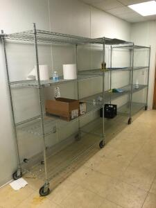 Metal Shelving Units on Casters