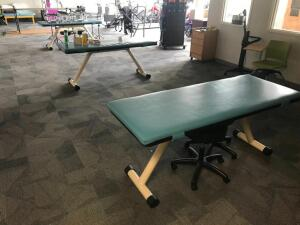 Occupational/Physical Therapy Equipment, Medical Equipment, Exercise Balls with Rack, Dumbbells