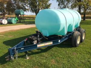 1300 gal. Nurse Tank on Tandem Trailer