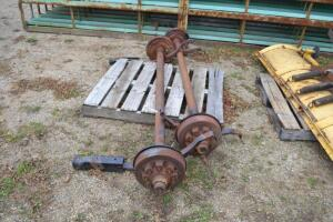 "(2) used 7K axles 84"" hub face to hub face"