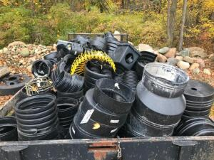 Large Assortment of Plastic Tile Fittings - Trailer Not included