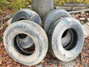 (4) 10.00-20 Tires