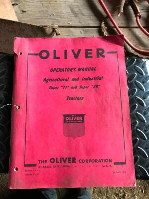 Oliver Super 77 and Super 88 Operators Manual