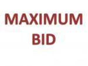 Maximum Bid
