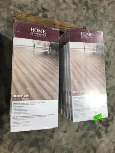 Approx 304 Sq Ft Click Bamboo Flooring Woven Light Taupe