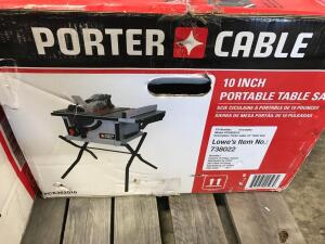 "Porter Cable 10"" Portable Table Saw"