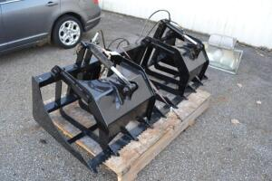Reinforced grapple bucket 80 inch