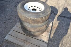 (3) ST225/75D16 wheels and tires