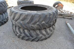 (2) 18.4 R 38 tires
