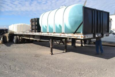 2002 Manac flat bed trailer chemical trailer