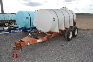 1000 gal nurse tank on Clark tandem axle trailer