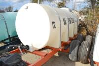 1000 gal nurse tank on Clark tandem axle trailer - 2