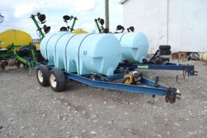 1000 gal nurse tank on tandem axle trailer