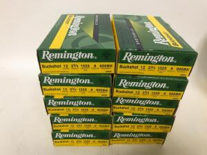 "Remington 12GA 2 3/4"" Buckshot Ammo - 50 rounds"