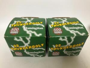 Remington 22LR Thunderbolt Ammo - 1,000 rounds