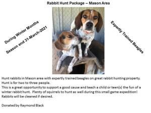 Rabbit Hunt Package- Donated by Raymond Black