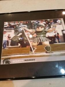 Framed Photo of MSU Sparty Mascot- Donated by Friend of Optimist