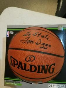 Autographed basketball signed by MSU Basketball coach Tom Izzo and son Steve Izzo- Donated by Friend of Optimist
